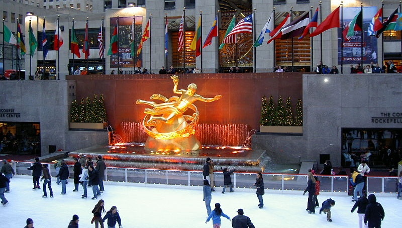 Ice Skating at Rockefeller Center by Mr Bullitt