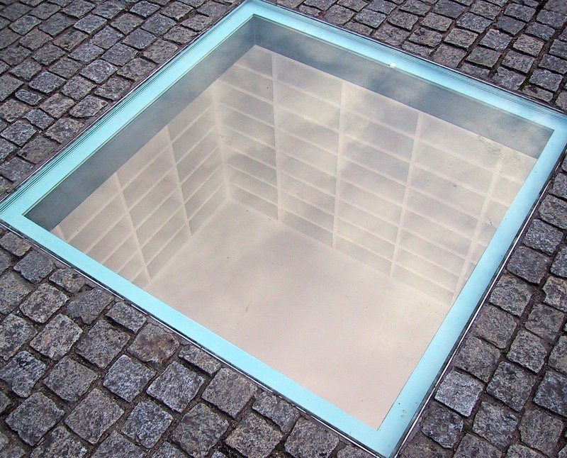 Memorial to Nazi Book Burning by Micha Ullman set into the Bebelplatz by Aaron Siirila